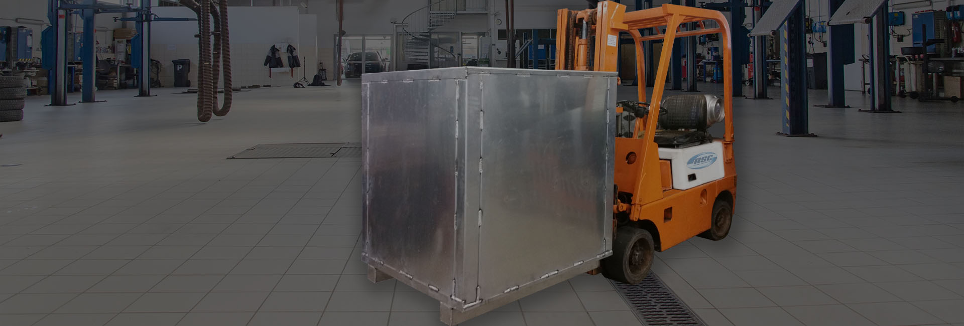 Forklift Carrying Electrostatic Precipitators